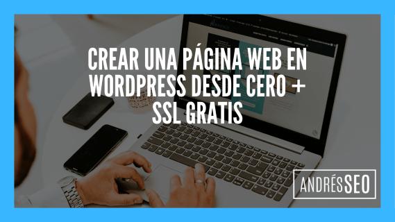 Crear una Página web en Wordpress Gratis